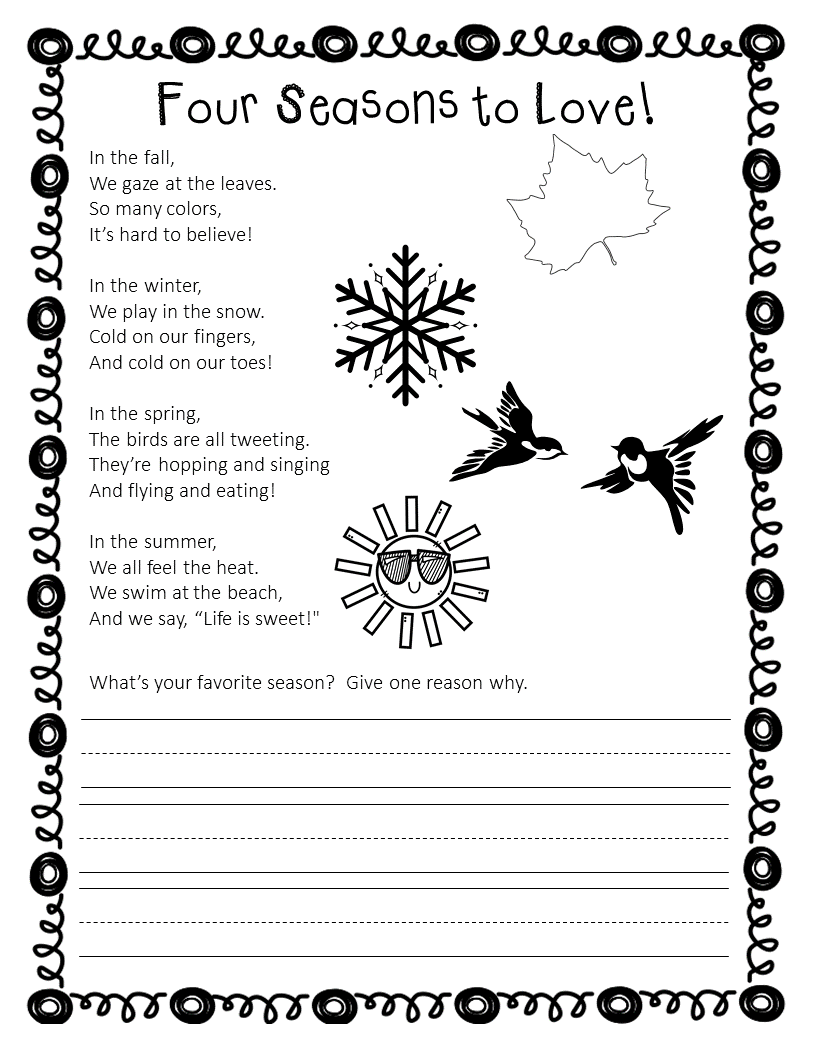 Poem For Shared Reading Four Seasons Shared Reading Poems Seasons Poem Shared Reading [ 1056 x 816 Pixel ]
