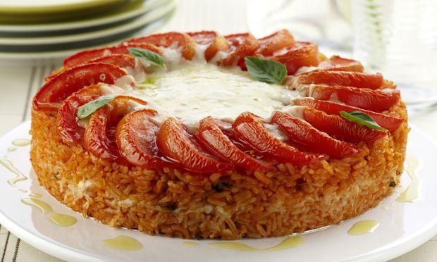 Torta de arroz com mussarela