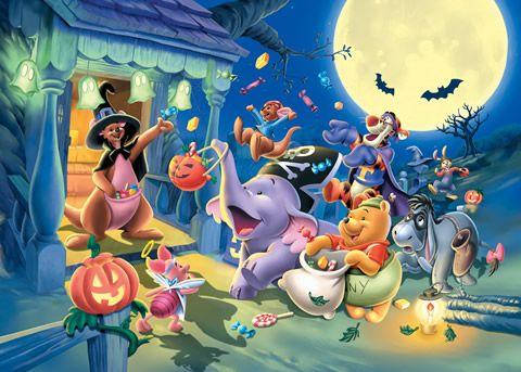 Dw 1000 321 Tenyo Disney Winnie Pooh Halloween Japan Jigsaw Puzzles