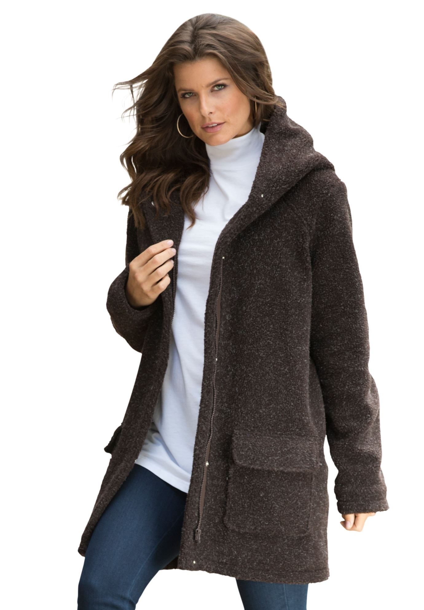 bec7a45e6b This plus size coat will become the most valuable player in your  fall winter closet. relaxed silhouette easily glides over your curves about  34