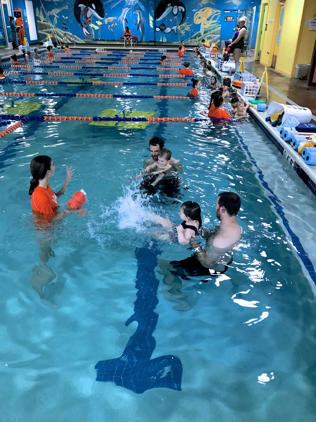 I Just Love How Far She Has Come From 13 Months To 22 Months At Goldfish She Freely Goes To The Instructor Splashes Sai Swim School Swimming Night Swimming