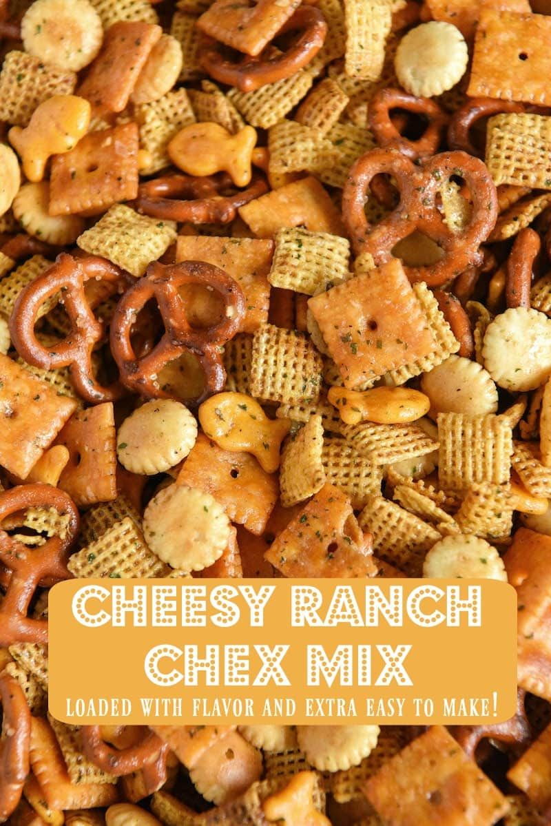 Customizable Crunchy Cheesy Ranch Chex Mix - Easy