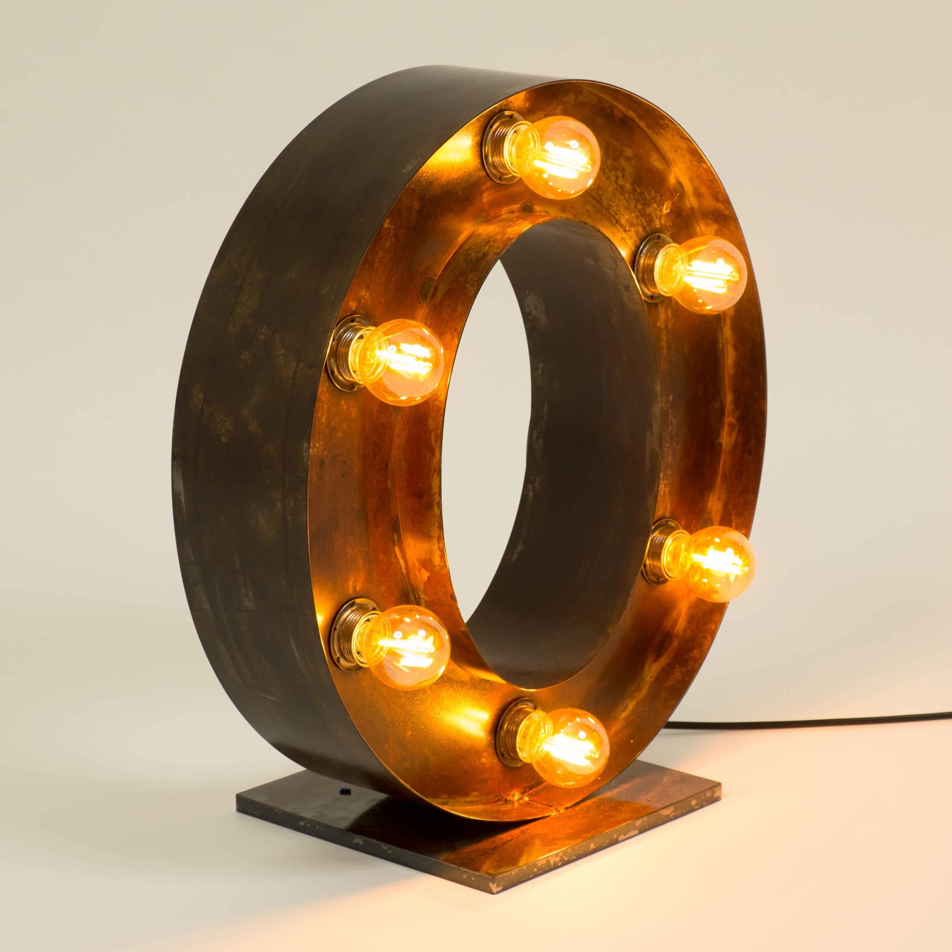 Letra C Metalicas Decorativas Iluminadas