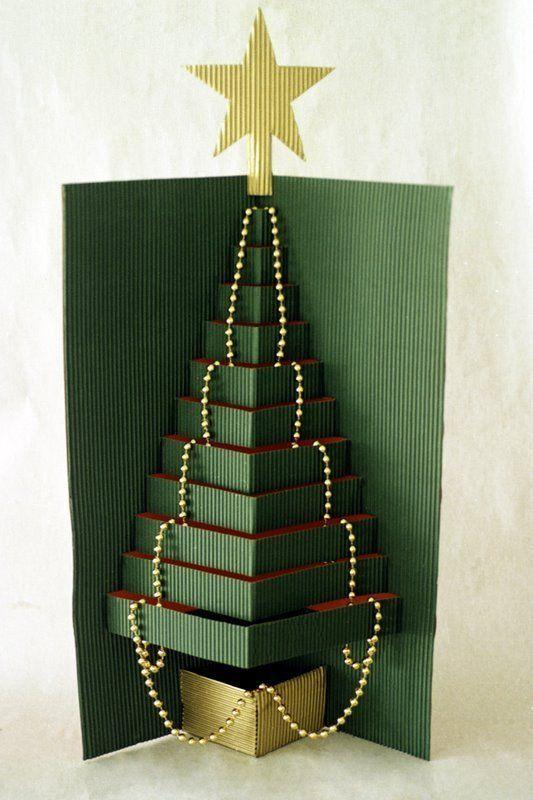 como hacer tarjetas de navidad a mano Navidad Pinterest Como