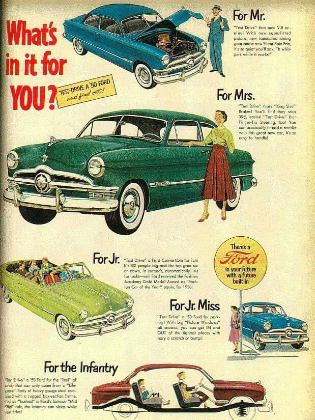 Vintage Ford automobile ads, 1950s | Ads