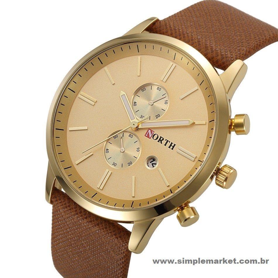 Relógio Masculino Couro North® NT2491 R$91,90 8x de R$11,49 sem juros Entregas em todos os Estados Clique no link e vá direto ao site: www.simplemarket.com.br