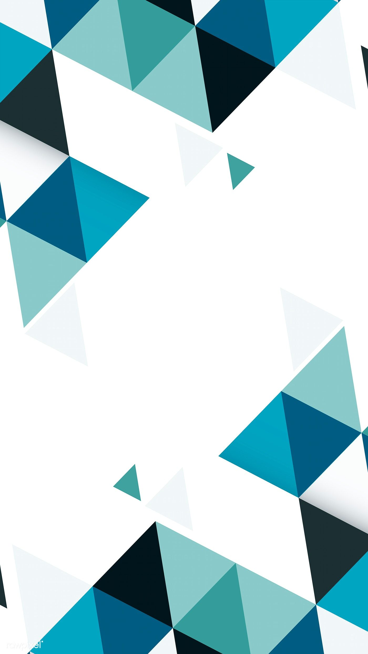 Abstract blue and green geometric background vector free