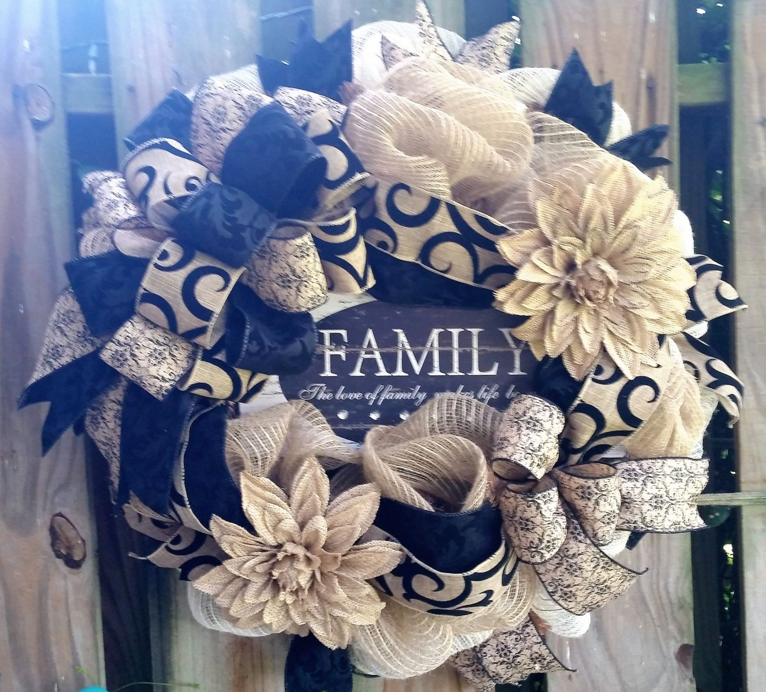 Family Wreath, Front Door Wreath, Everyday Family Wreath,The Love Of Family  Makes Life Beautiful Wreath, Summer Spring Wreath, Front Door