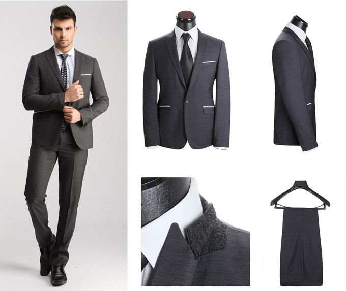 New Fashion Design Top Quality Slim Fit Office Wear Suits Men Blazer One On
