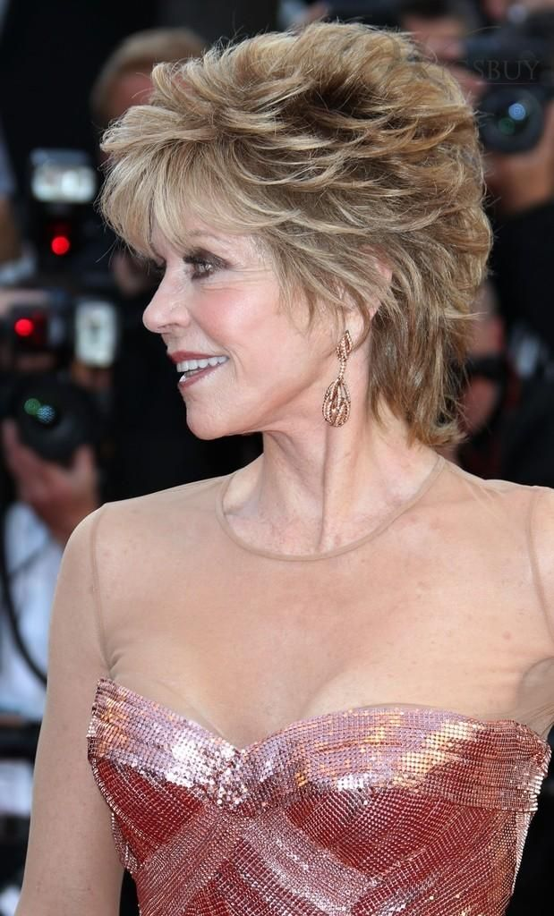 Jane Fonda Mixed Colour Deluxe Lovely Short Wavy 100 Real Human