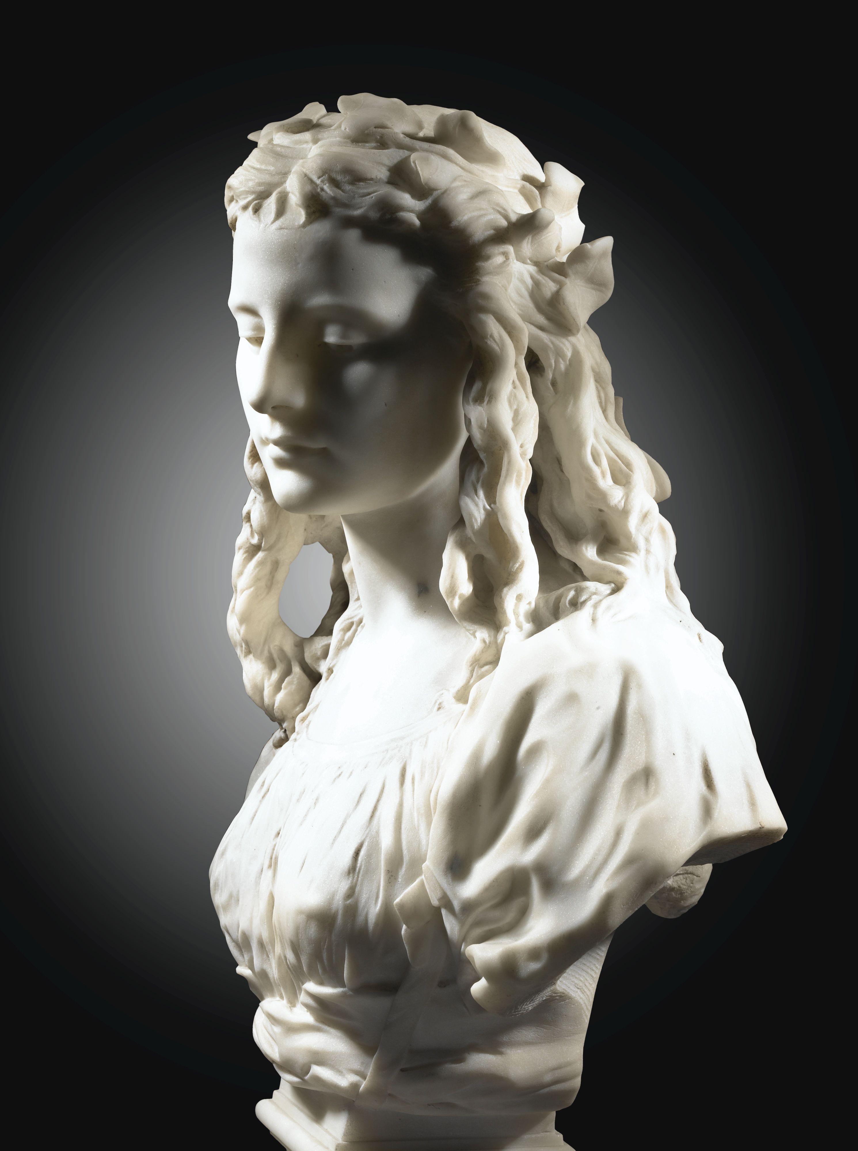 Jean Baptiste Carpeaux Lot Portrait Sculpture Sculpture Art Bust Sculpture