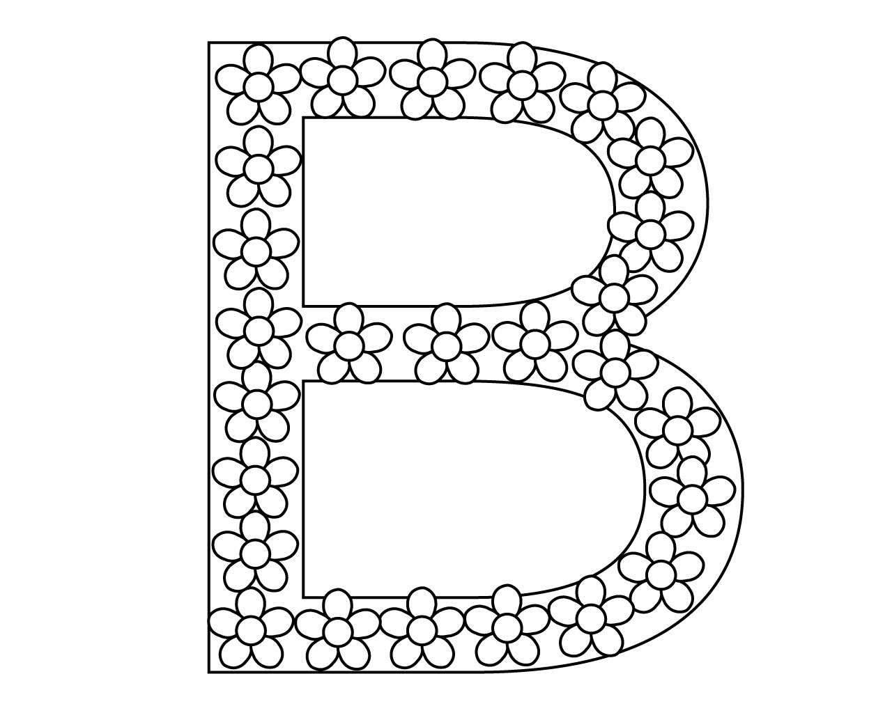 Cute Letter B Coloring Pages