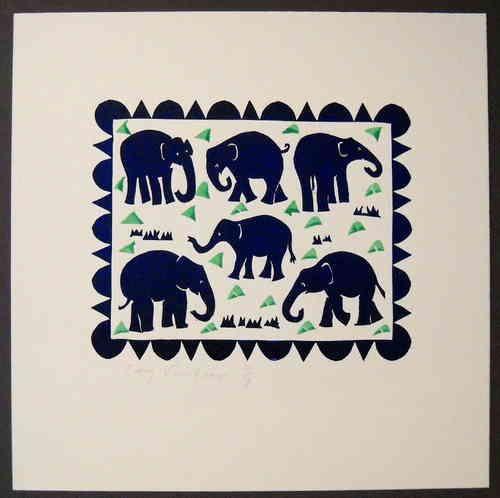 olifanten linosnede - Google zoeken