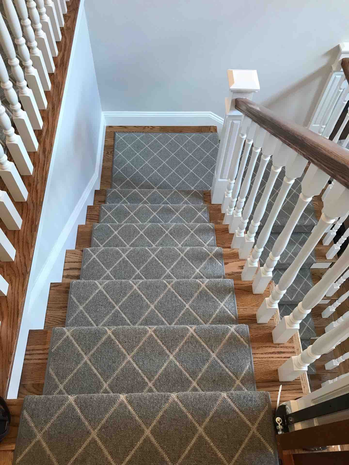 Astro Moondust A Beautiful Flatweave Installation By The Carpet Workroom Stair Runner Carpet Carpet Stairs Stair Runner