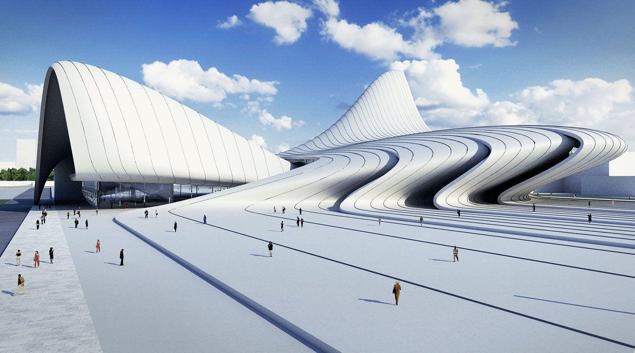 Heydar Aliyev Cultural Centre, Baku, Azerbaijan, By Zaha Hadid Idea
