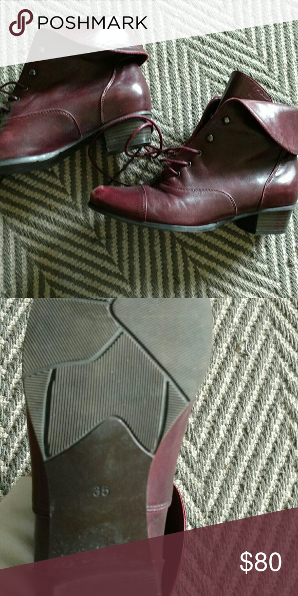 Spring Step Galil Boots - Bordeaux Leather Gorgeous color