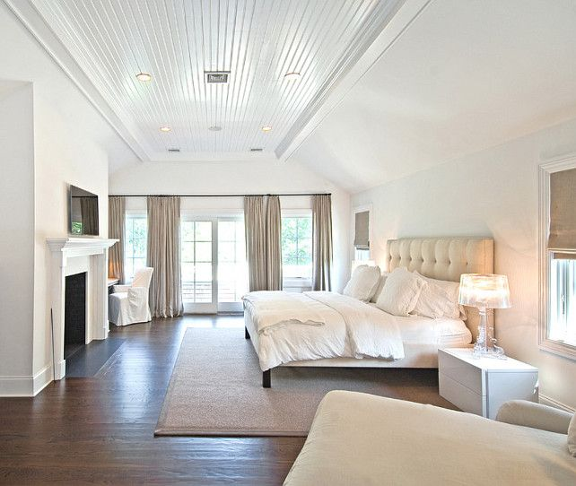 Hamptons Inspired Luxury Home Master Bedroom Robeson: Master Bedroom. White Bedroom. Hamptons Style Interiors