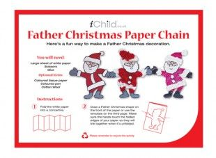 Using Our Fantastic Father Christmas Paper Chain Template Your