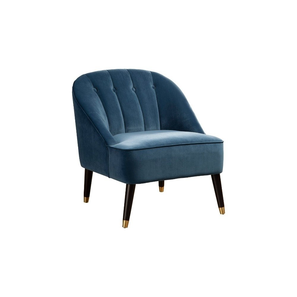 Button Tufted Rubberwood Accent Chair With Polyester