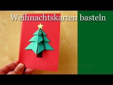 Weihnachtskarten Origami.Weihnachtskarten Basteln Basteln Für Weihnachten Basteln Ideen