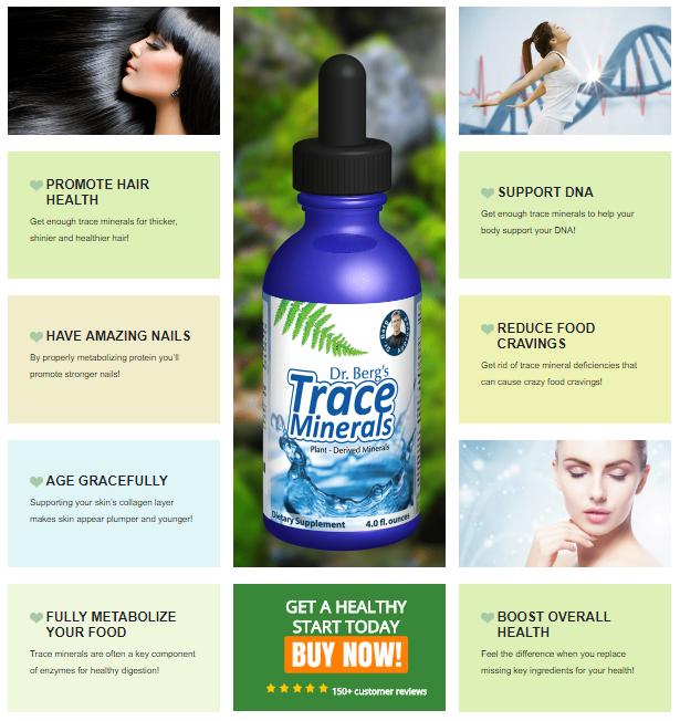 Trace Minerals Trace minerals, Minerals, Dr berg trace