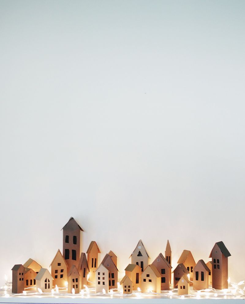 Advent Village DIY (A Beautiful Mess) | домик ) | Pinterest | Advent ...