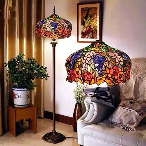 Toym Uk European Senior Stained Gl Tiffany Lamps Cafe Retro Living Room Floor Lamp Bedroom Creative Click On The Image For Additional Details