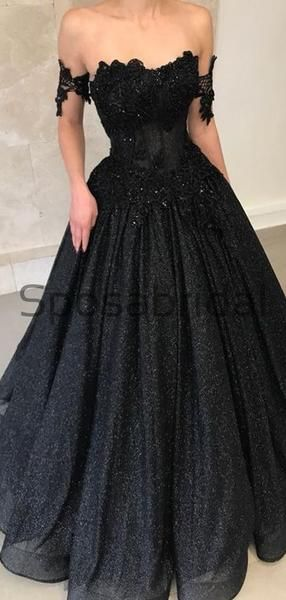 Black Off the Shoulder Aline Sparkly Sequin Elegant Modest Prom Dresses, Ball Gwon, Prom Dress PD1825 Black Off the Shoulder Aline Sparkly Sequin Elegant Modest Prom Dresses, Ball Gwon, Prom Dress PD1825 - Prom dresses modest, Prom dresses, Long elegant prom dresses, Black sparkly dress, Prom party dresses, Ball dresses - Black Off the Shoulder Aline Sparkly Sequin Elegant Modest Prom Dresses, Ball Gwon, Prom Dress PD1825 The dress can be custom made in size and color for free, lace up back or zipper back are all available  Description 1, Material tulle,sequin, lace appliques,elastic satin  2, Color picture color or custom colors, t