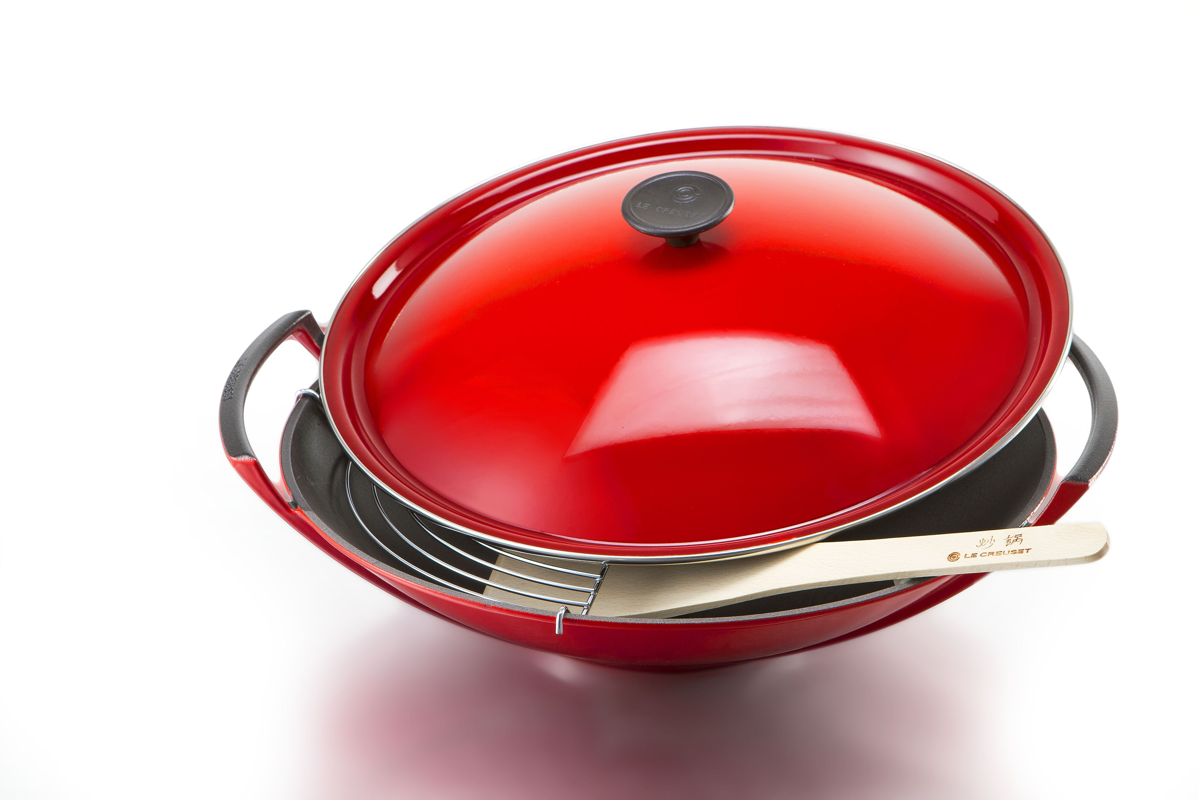 le creuset wok cherry pinterest woks kitchen gadgets and kitchens. Black Bedroom Furniture Sets. Home Design Ideas