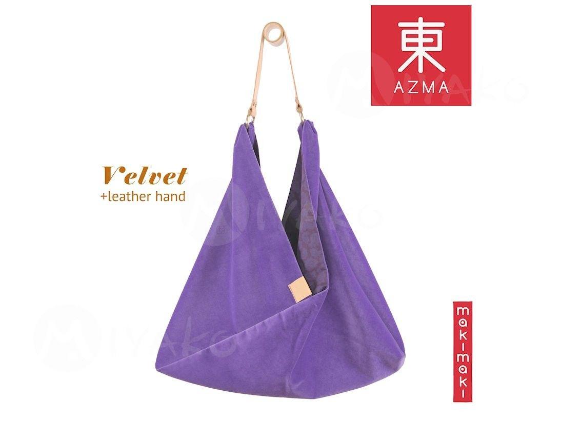 Torba Azma Velvet Lavender Japonia Prezent Torba Torby Prezent