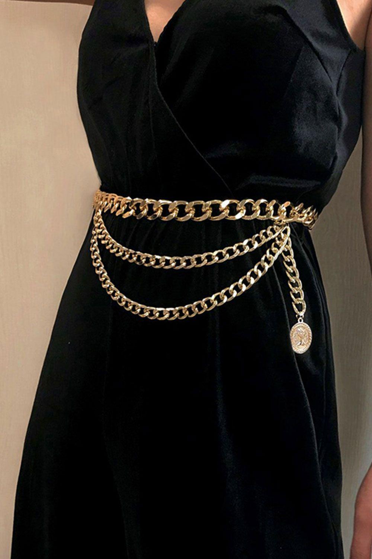 Vintage Golden Waist Chain For Jeans Dresses Fashion Waist Chain Fashion Belts [ 1500 x 1000 Pixel ]