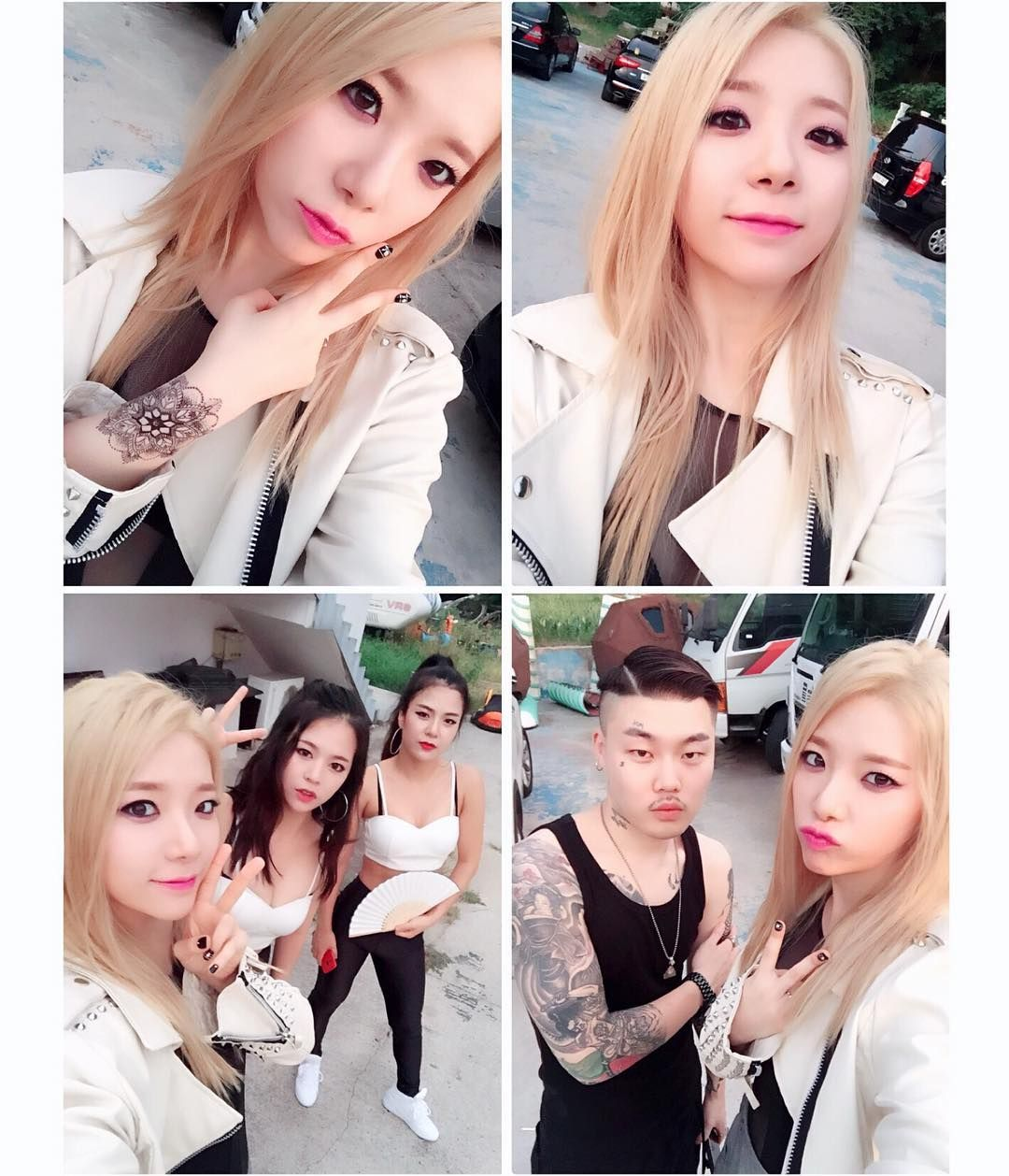 Blonde Tymee!!! With dancers and Tutak