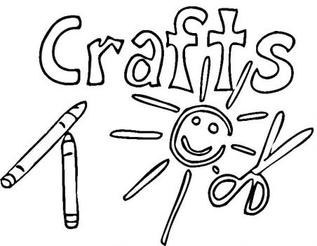 crafts coloring pages