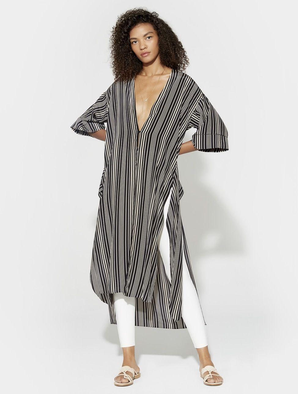 Striped Silk Kimono Kimono, Stripe silk, Silk kimono jacket