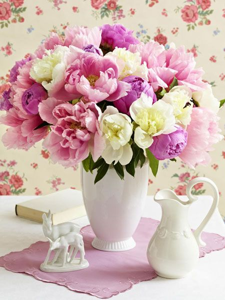 Pfingstrosen deko f r pfingsten blumen in vasen pinterest pfingstrosen rosen und blumen - Pfingstrosen dekoration ...