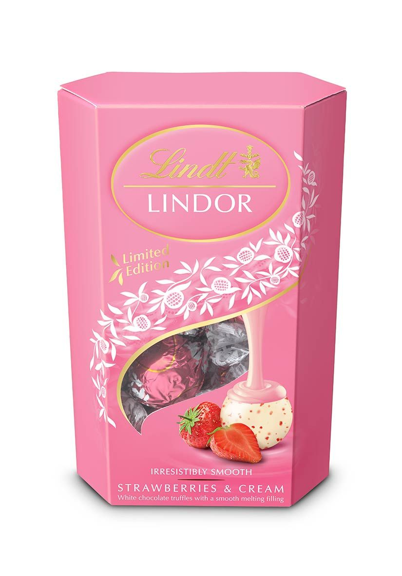 Lindor Lindt Chocolates, strawberries and cream limited edition ...