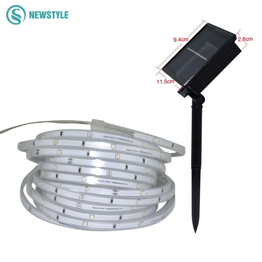 Newest Smd2835 Solar Led Strip Light 1600mah 3 Modes Lighting Tape Ribbon Waterproof Ip67 Outdoor Lighting Decora Outdoor Lighting Solar Lamp Light Decorations