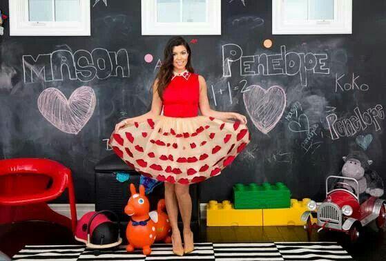 Kourtney kardashian in her home playroom decor
