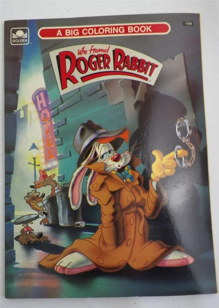 who framed roger rabbit coloring book 1988 golden press 1194