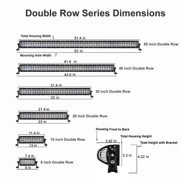 New Black Oak Led Pro Series 2 0 50 Inch Double Row Series