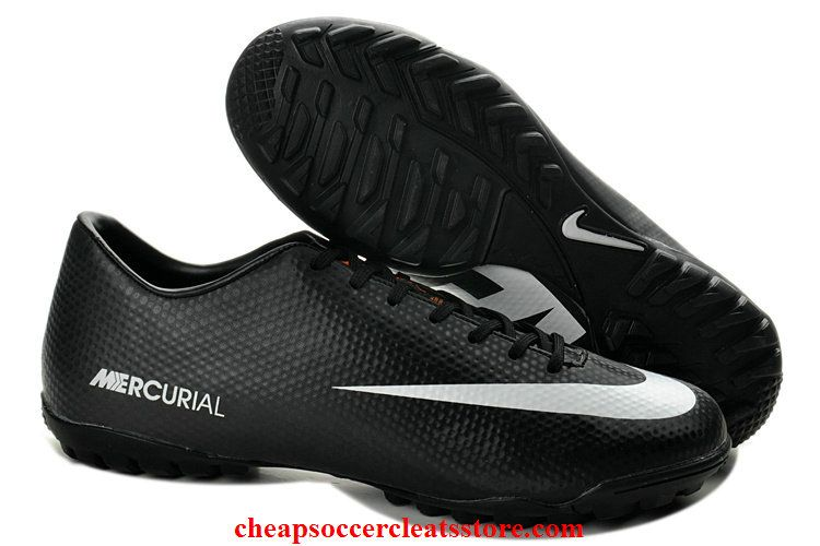 0160b5100 Nike Mercurial Victory IV ACC TF Soccer Shoes For Cheap Black White Soccer  Cleats