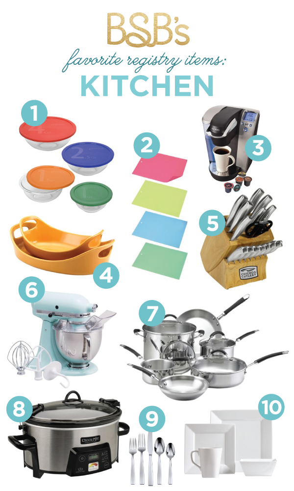 Best Wedding Registry Items.Bsb S Registry Must Haves Kitchen Budget Wedding Inspiration