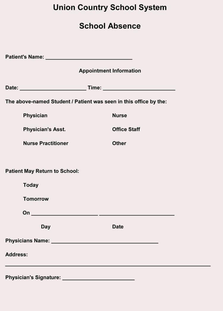 Doctors note for work template elegant creating fake