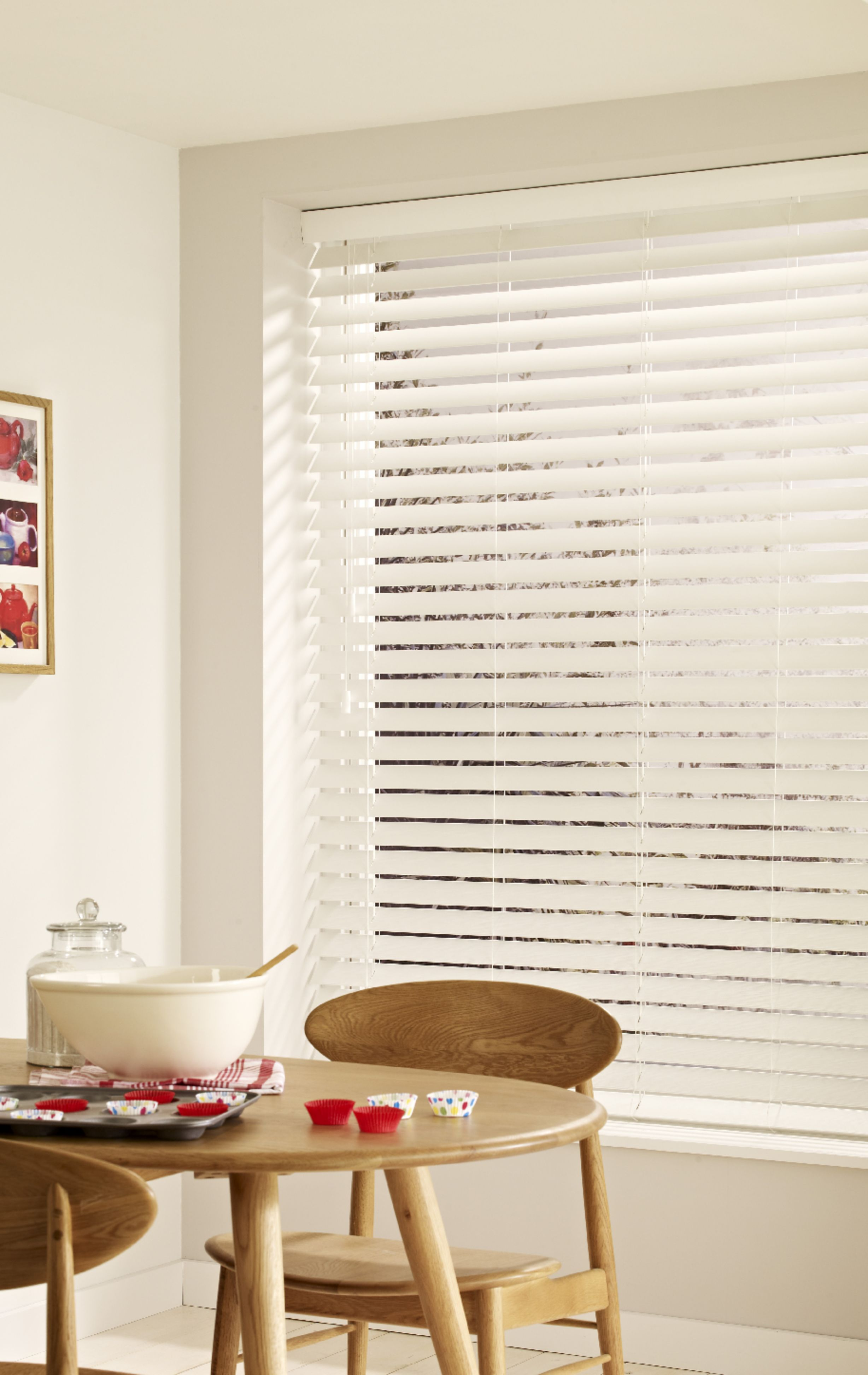 True White Wooden blinds-Larger Blinds fitted with Patented ...