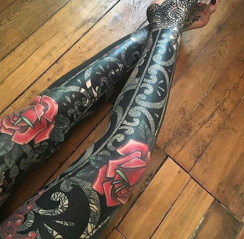Amazing leg pieces leg tattoos sleeve tattoos