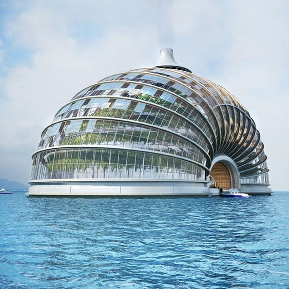 Addressing growing concern over climate change and the rising level of the  world's oceans, Russian architectural firm Remistudio has designed a  massive hotel concept that can endure extreme floods.