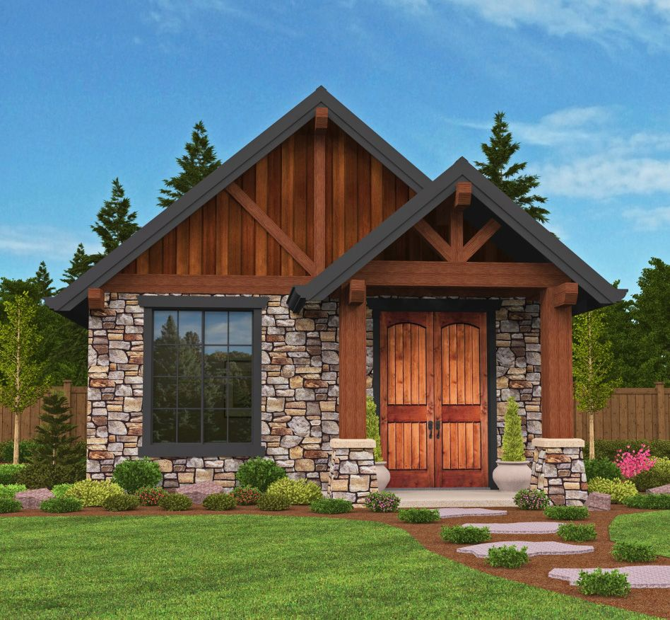 Plan 85106MS: Rustic Guest Cottage Or Vacation Getaway