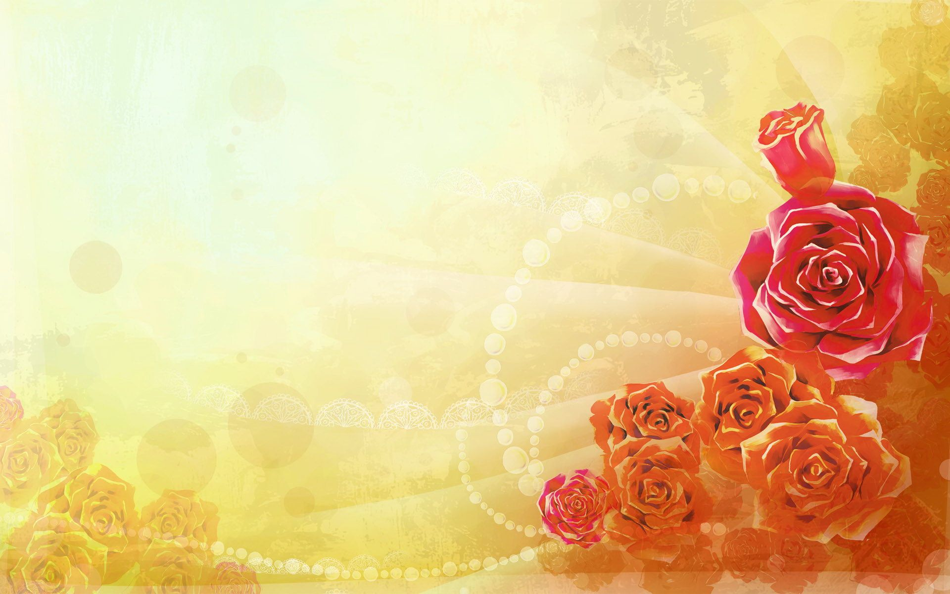 Red rose flower wave PowerPoint background. Available in 1920x1200 ...