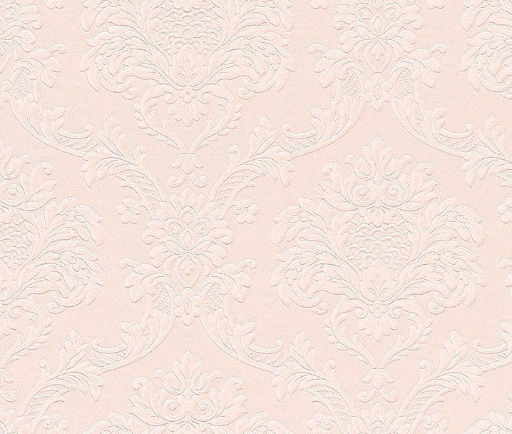 Trianon Neo Barock Retro Vinyl Tapete Rosa Ornament 505351 2 98 1qm Tapeten Retro Einkaufskorb
