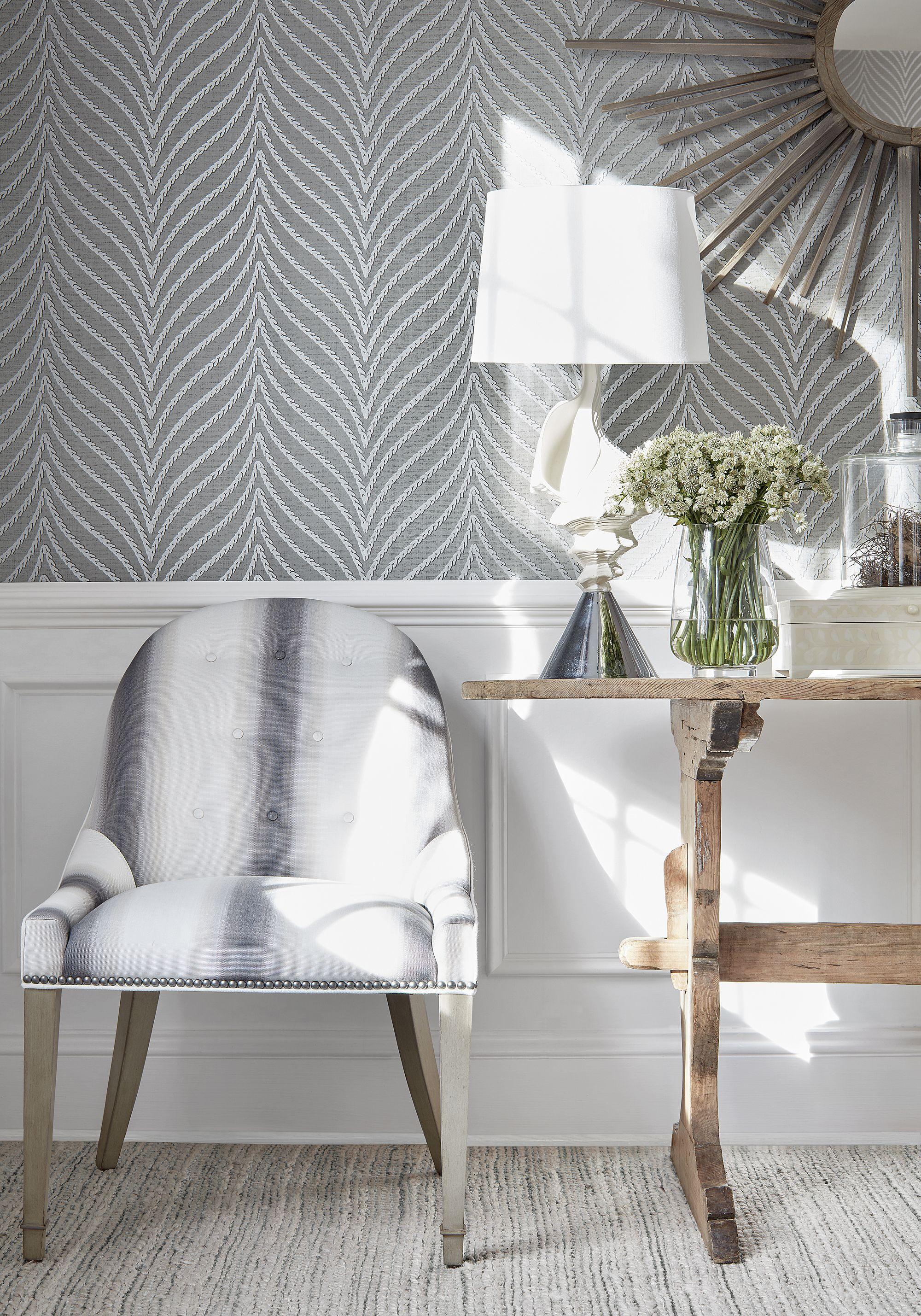 Grey Decor Grey Wallpaper Living Room Herringbone Wallp